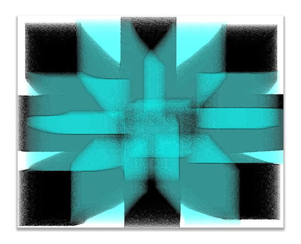 Geometric Energy Abstract III Print Wall Art - WallLillies