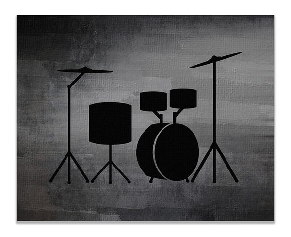 Acoustic Drums Print Wall Art - WallLillies