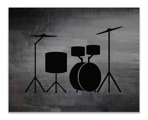 Acoustic Drums Print Wall Art