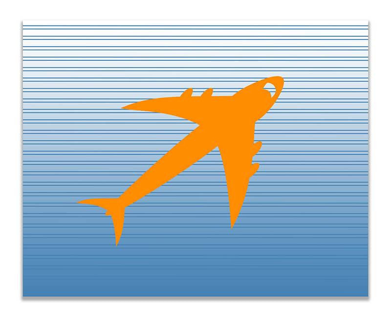 Jet Airplane Children's Print Wall Art - WallLillies