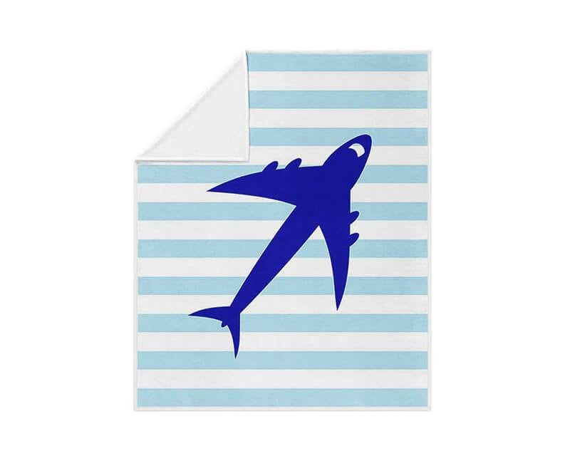 Jet Airplane Fleece Blanket - WallLillies