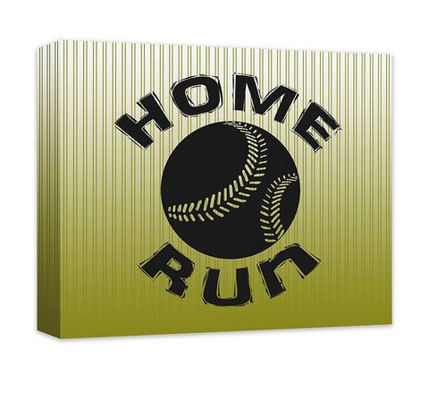 Home Run with Baseball Canvas Wall Art
