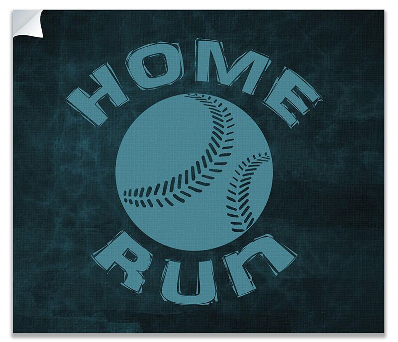 Home Run with Baseball Print Wall Art - WallLillies