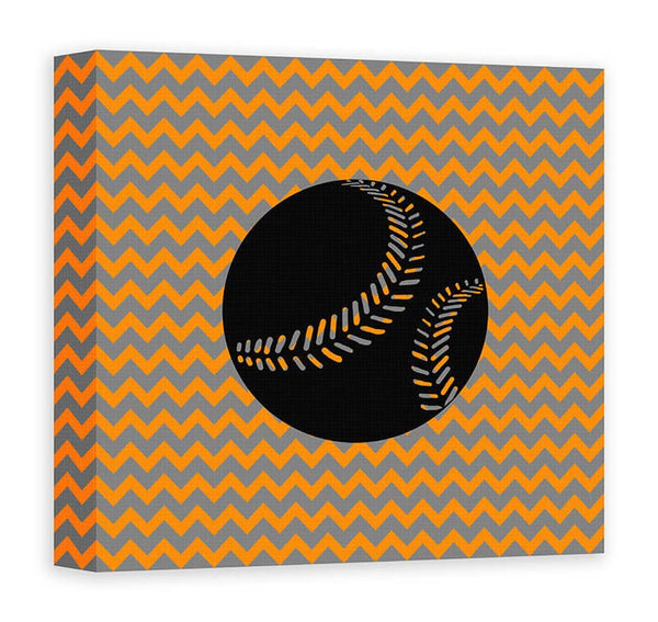 Baseball I Children's Canvas Wall Art - WallLillies