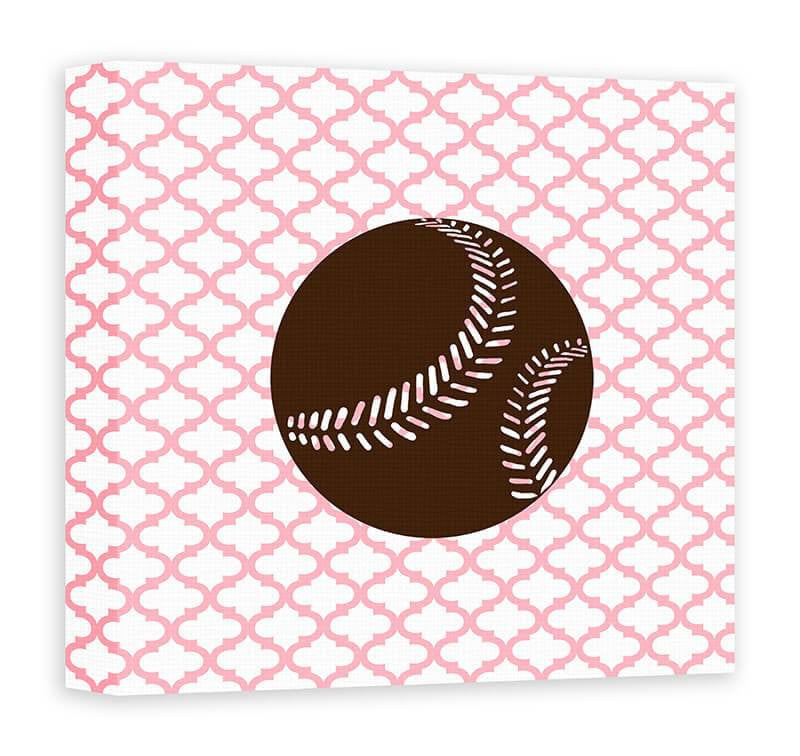 Softball I Children's Canvas Wall Art
