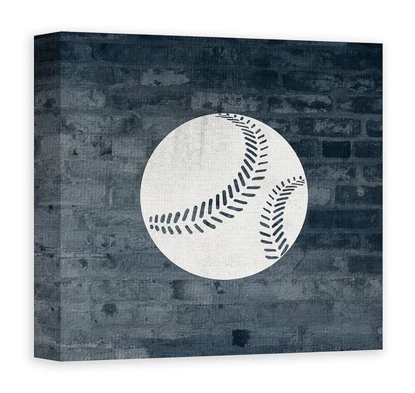 Baseball I Canvas Wall Art - WallLillies