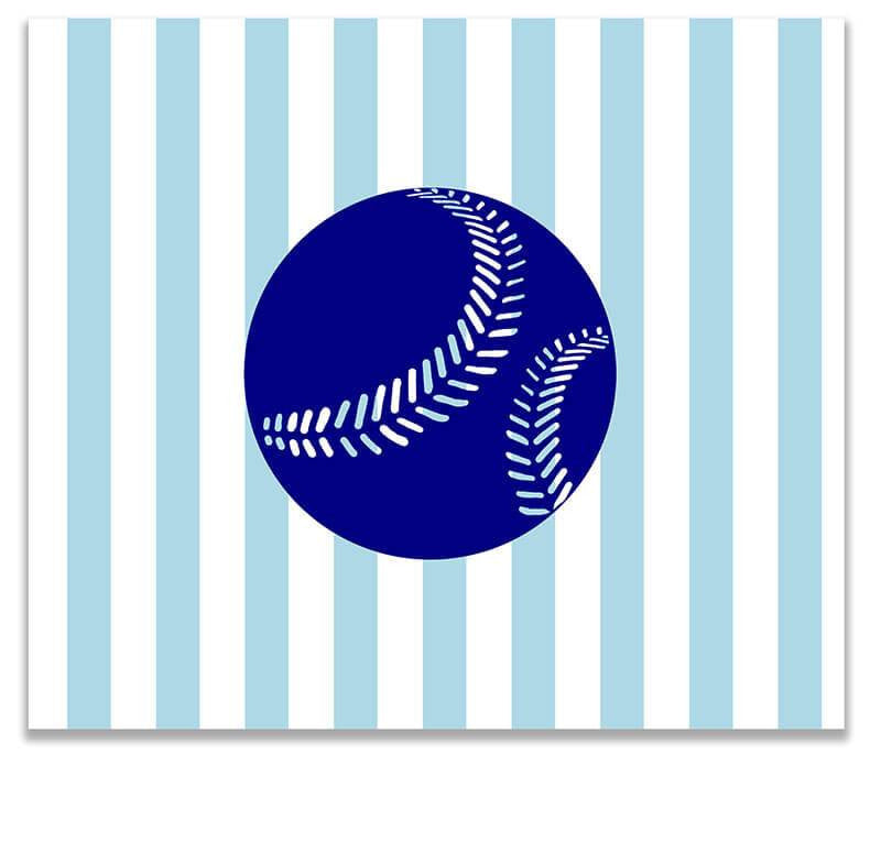 Baseball I Children's Print Wall Art - WallLillies