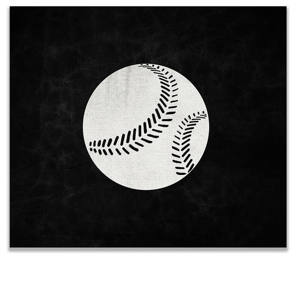 Baseball I Print Wall Art - WallLillies
