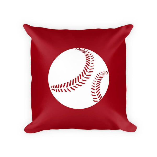 Baseball I Children's Woven Cotton Throw Pillow - WallLillies
