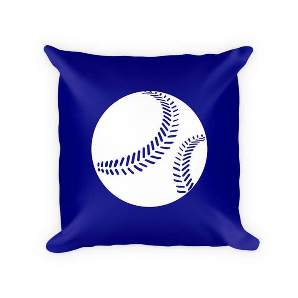Baseball I Children's Cotton Poly Throw Pillow - WallLillies
