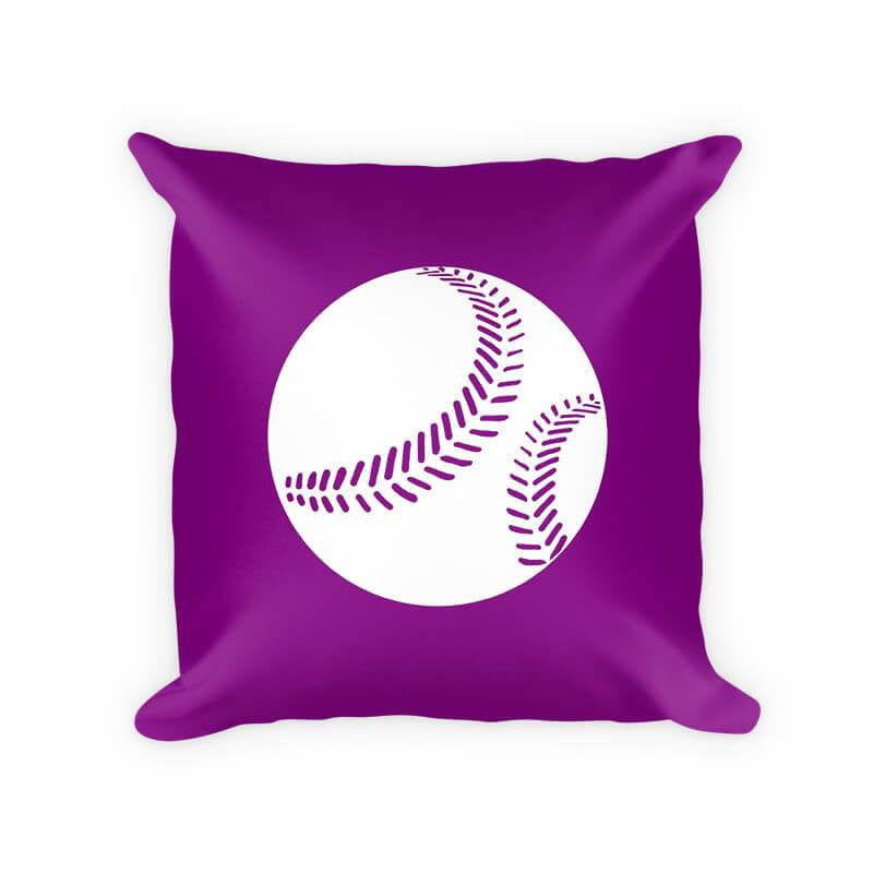 Softball I Children's Throw Pillow - WallLillies