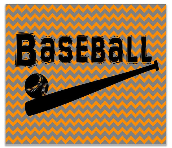 Baseball with Ball and Bat Children's Print Wall Art - WallLillies