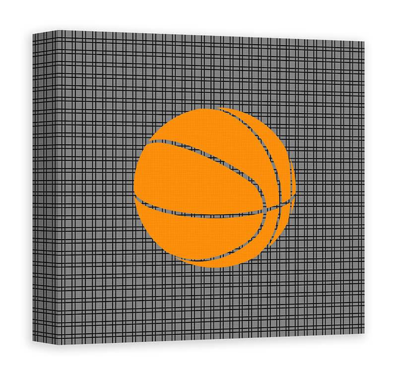 Kids Basketball Canvas Wall Art - WallLillies