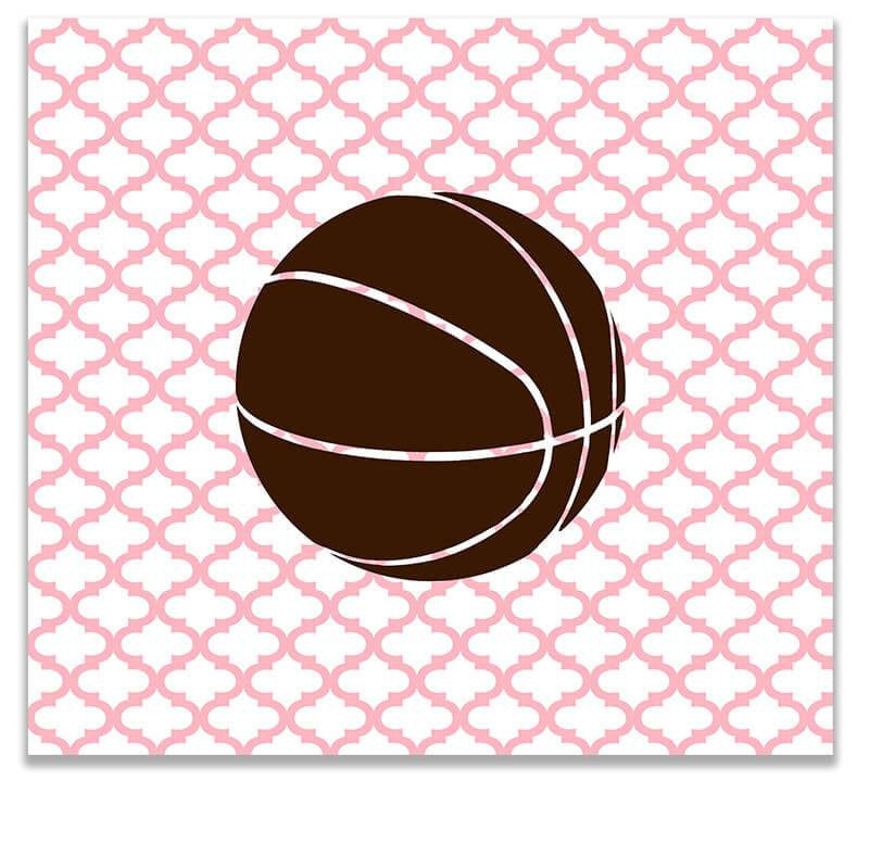 Kids Basketball Print Wall Art - WallLillies