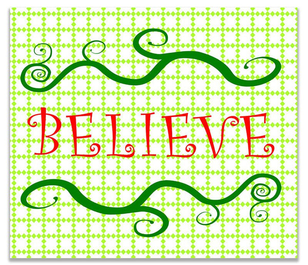Believe I Holiday Print Wall Art