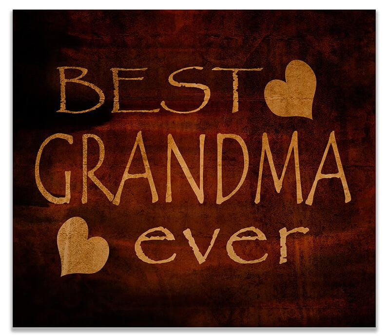 Best Grandma Ever Print Wall Art - WallLillies