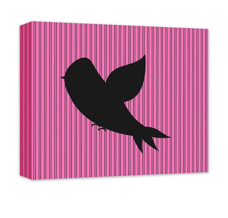 Bird in Flight Children's Canvas Wall Art - WallLillies