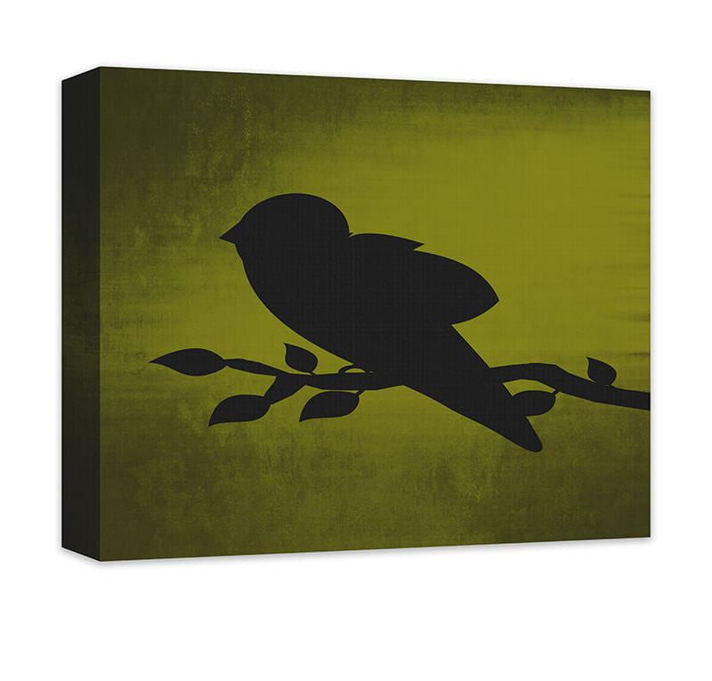 Bird on a Branch Canvas Wall Art - WallLillies