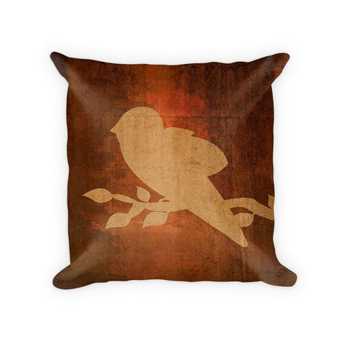 Bird on a Branch Cotton/Poly Throw Pillow