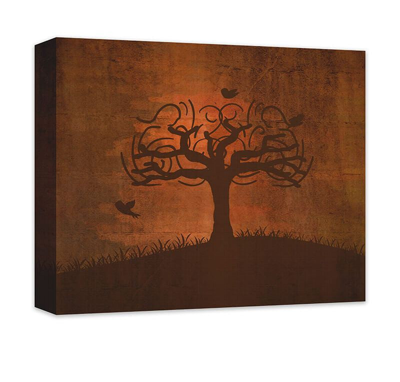 Birds in Whimsical Tree Canvas Wall Art - WallLillies