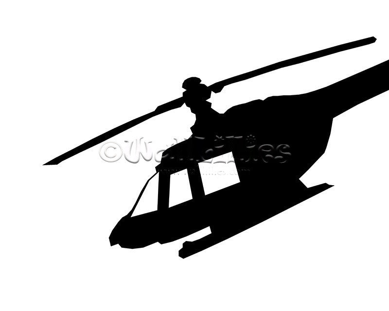 Helicopter Decal - WallLillies