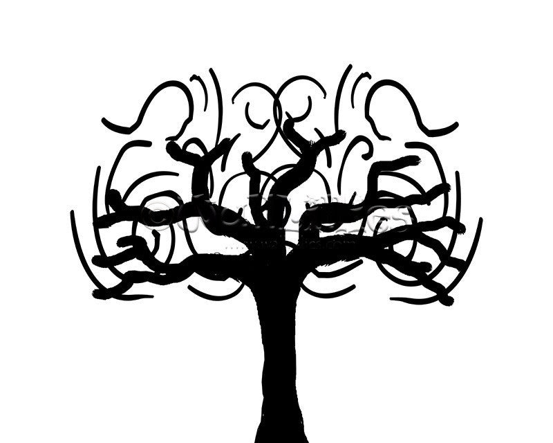 Whimsical Tree Decal