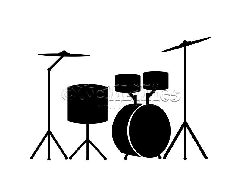 Acoustic Drums Decal - WallLillies