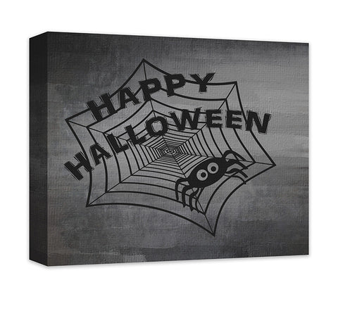 Happy Halloween with Cute Spider Canvas Wall Art