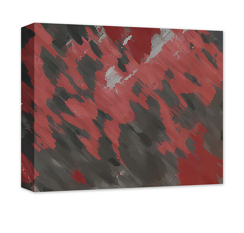 Blood Moon Abstract II Canvas Wall Art - WallLillies