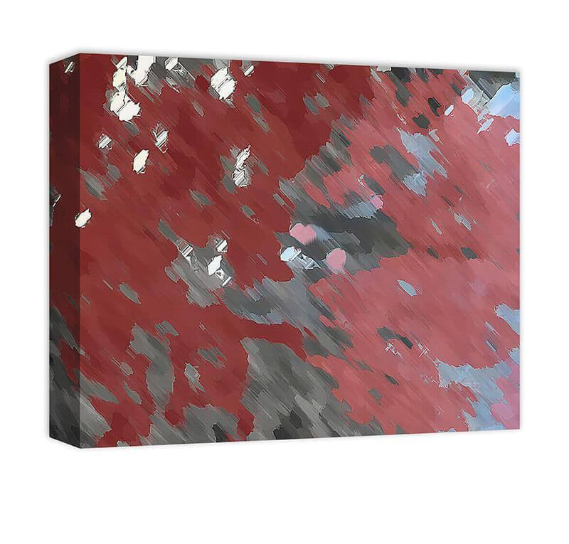 Blood Moon Abstract I Canvas Wall Art - WallLillies