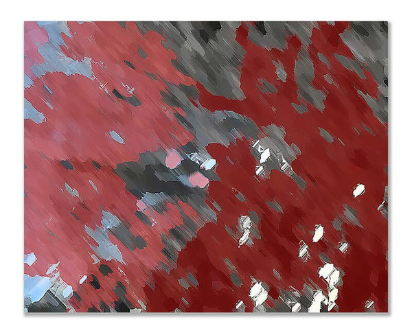 Blood Moon Abstract II Print Wall Art - WallLillies