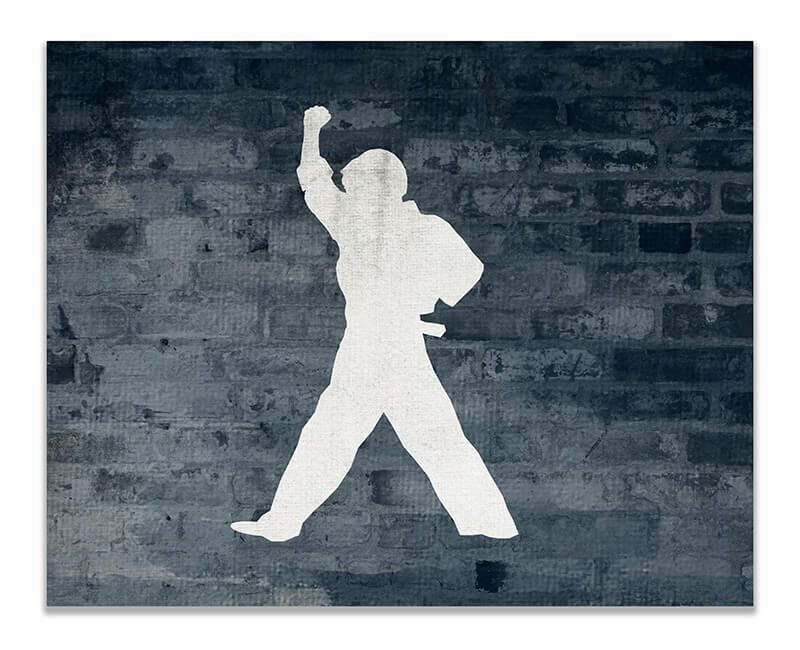 Boy Karate Moves II Print Wall Art - WallLillies
