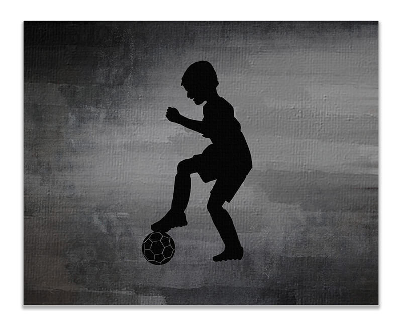 Boy Soccer Moves I Print Wall Art - WallLillies