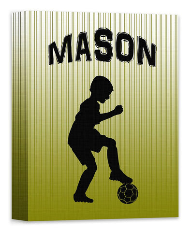 Boy Custom Silhouette I Canvas Wall Art