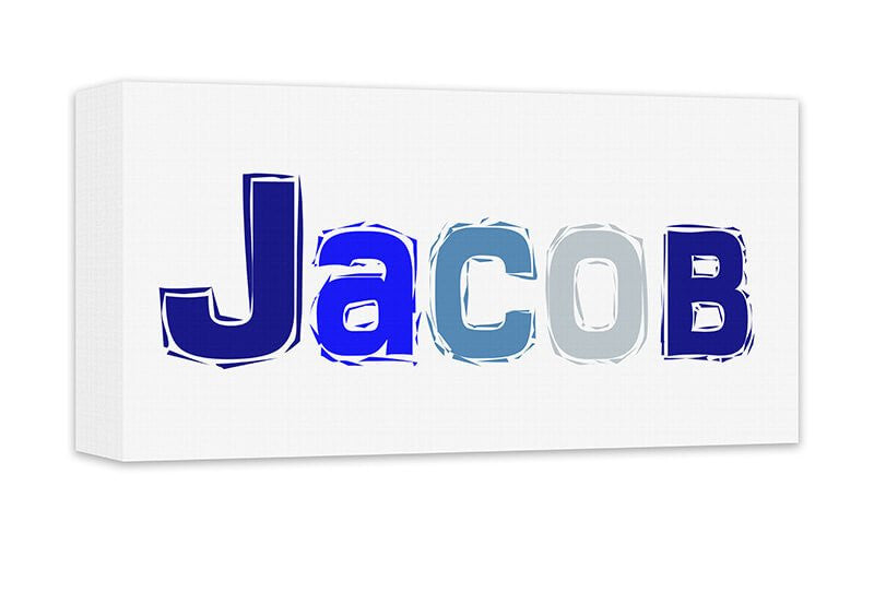 Boy Personalized Name Canvas Wall Art Panoramic – WallLillies