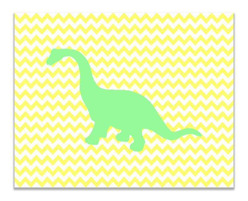 Brachiosaurus Children's Print Wall Art - WallLillies