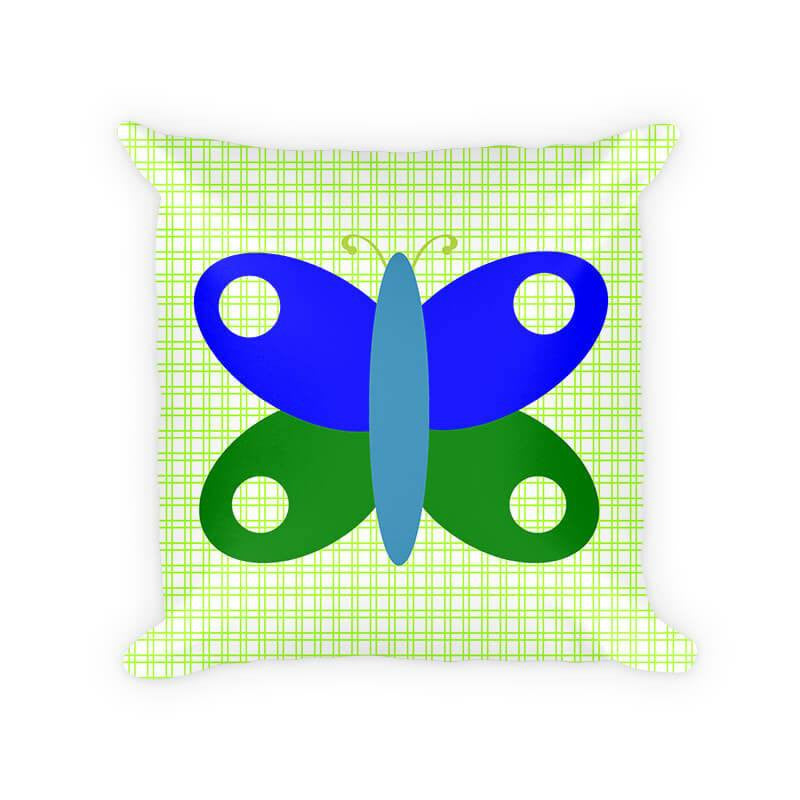 Butterfly I Children's Cotton Poly Throw Pillow - WallLillies