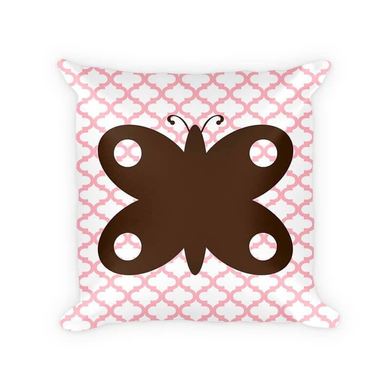 Butterfly I Children's Woven Cotton Throw Pillow - WallLillies