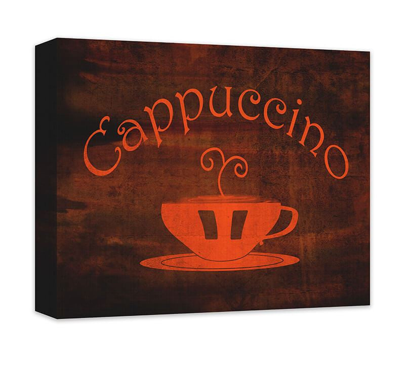 Cappuccino Cup Word Art Canvas Wall Art - WallLillies