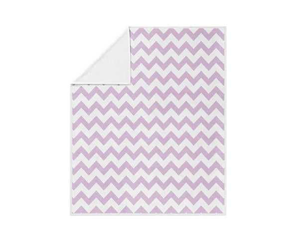 Light Purple Chevron Pattern Fleece Blanket - WallLillies