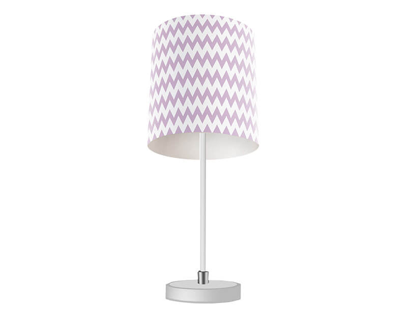 Light Purple Chevron Table Lamp - WallLillies