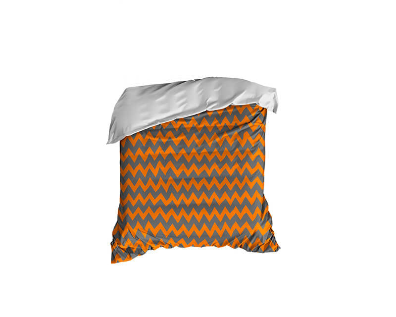 Orange and Gray Chevron Crib Comforter