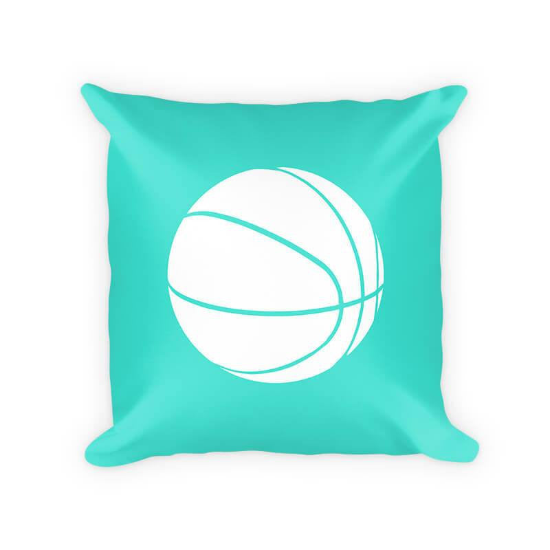 Kids Basketball Woven Cotton Throw Pillow - WallLillies