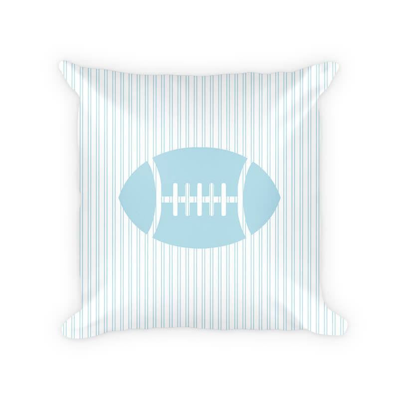Football Children's Cotton Poly Throw Pillow - WallLillies