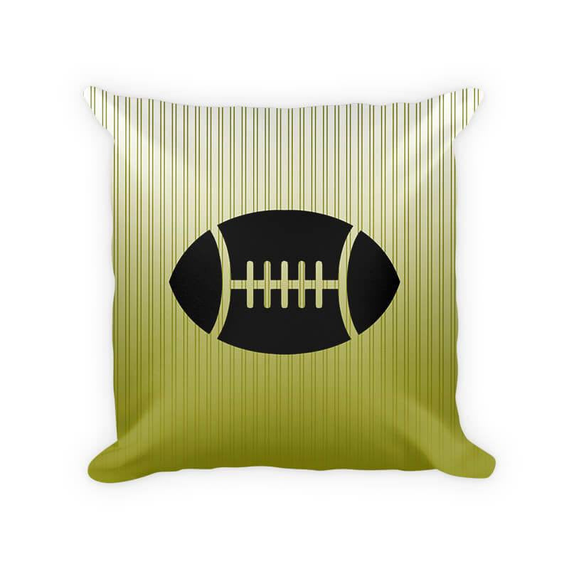 Football Children's Woven Cotton Throw Pillow - WallLillies
