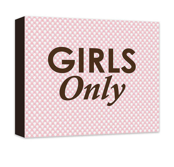 Girls Only Canvas Wall Art - WallLillies