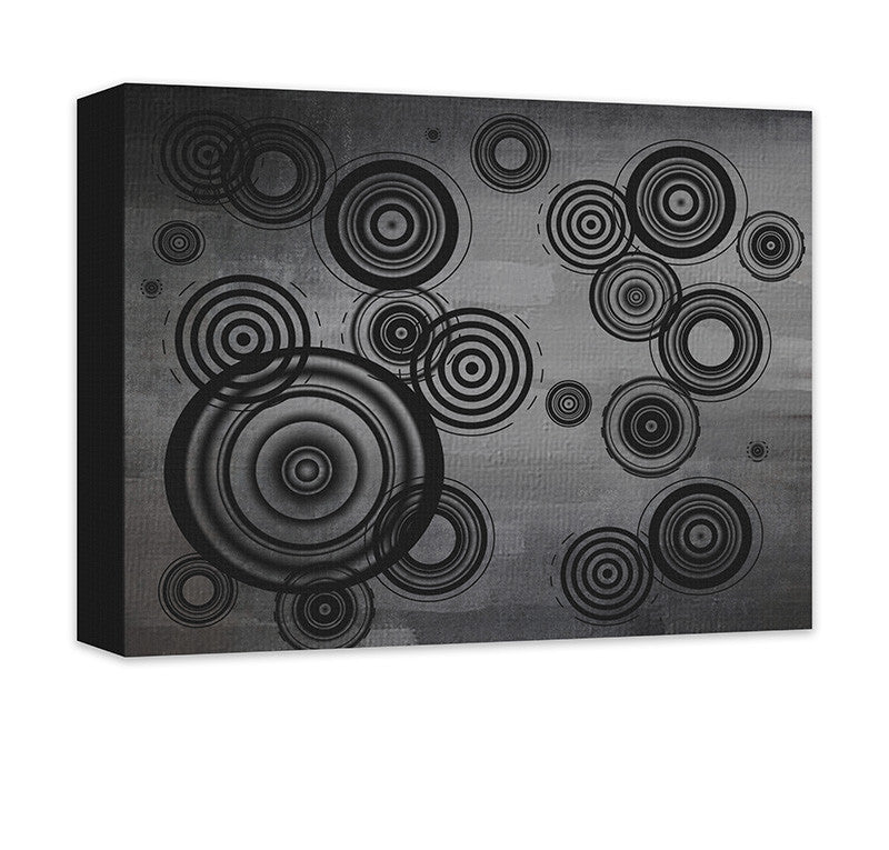 Circles Abstract I Canvas Wall Art - WallLillies