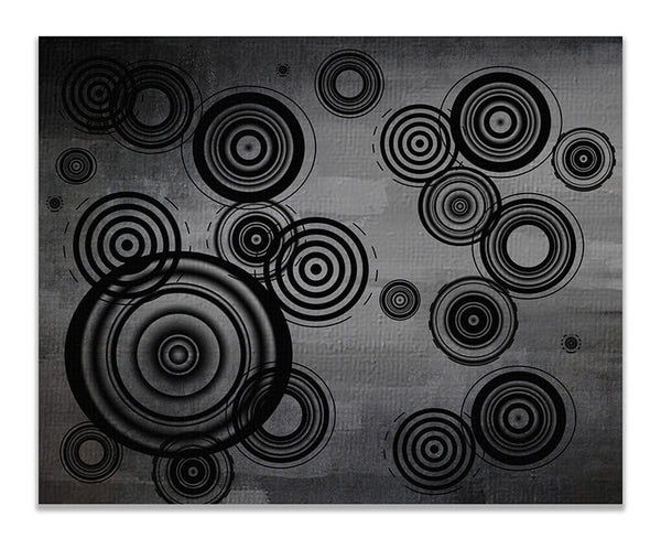 Circles Abstract I Print Wall Art - WallLillies