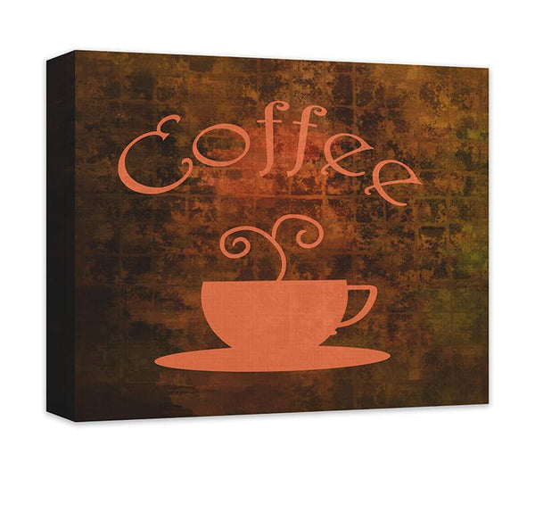 Coffee Cup Word Art Canvas Wall Art - WallLillies