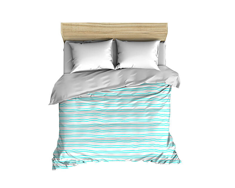 Horizontal Stripes Pattern Solid on White Comforter - WallLillies